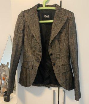 Dolce & Gabbana Boyfriend blazer zwart-goud