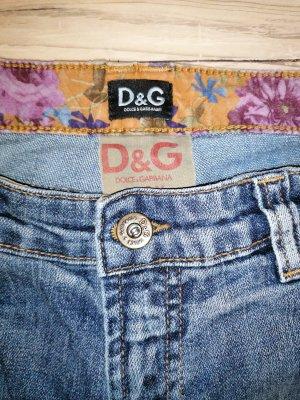 Dolce & Gabbana Jeansy o kroju boot cut niebieski-stalowy niebieski