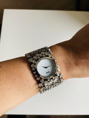 Dolce & Gabbana Zegarek z metalowym paskiem srebrny