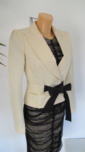 Dolce & Gabbana Korte blazer licht beige-zwart
