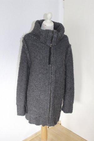 Dolce & Gabbana Coarse Knitted Jacket dark grey alpaca wool