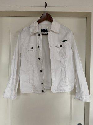 Dolce & Gabbana Veste en jean blanc coton
