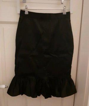Dolce & Gabbana Silk Skirt black
