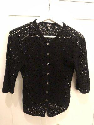Dolce & Gabbana Gebreid jack met korte mouwen zwart