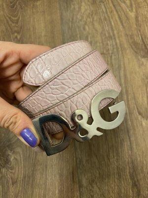 Dolce & Gabbana Ceinture en cuir rose clair