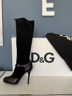 D&G Laarzen met hoge hakken zwart