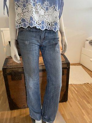 Dolce & Gabbana Jeansy o kroju boot cut stalowy niebieski