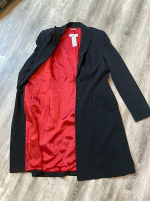 Dolce & Gabbana Długa marynarka czarny-czerwony