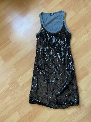 Dolce & Gabbana Sequin Dress black-silver-colored