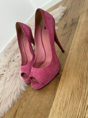 Dolce & Gabbana Escarpins à bout ouvert rose-magenta