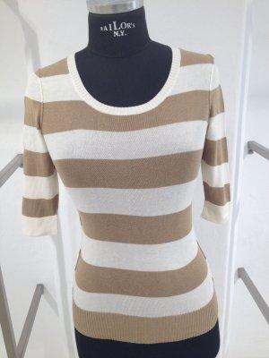 D&G Pullover gestreift weiß / beige