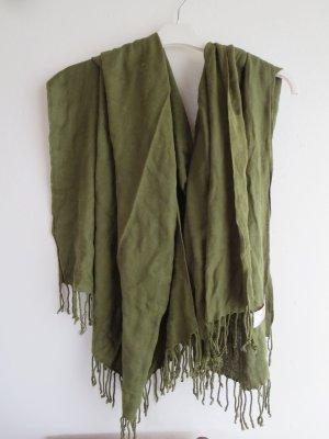 Écharpe en cachemire vert foncé cachemire