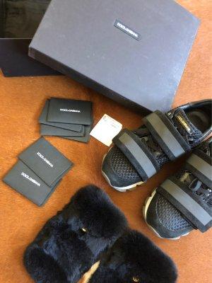 Dolce & Gabbana Zapatillas con velcro multicolor Piel