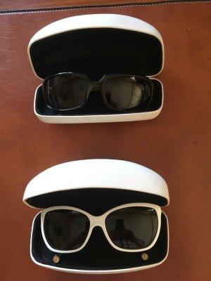 Dolce & Gabbana Occhiale da sole ovale bianco-blu Materiale sintetico