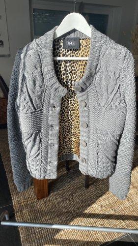 Dolce & Gabbana Giacca in maglia grigio