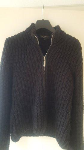 D&G Wełniany sweter czarny Wełna
