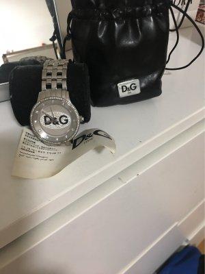 D&G Reloj con pulsera metálica negro-color plata