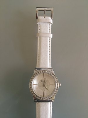 Dolce & Gabbana Watch With Leather Strap white-light grey leather