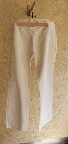 Dolce & Gabanna Pantalone a zampa d'elefante bianco Cotone