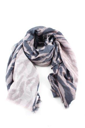D/LUCA Halsdoek roze-blauw abstract patroon casual uitstraling