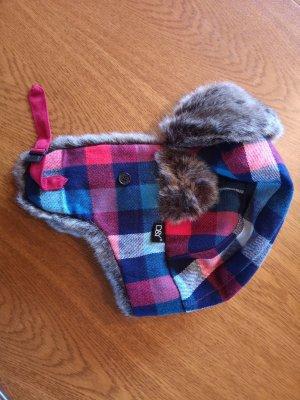 Chapeau en fourrure multicolore