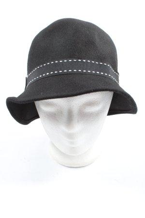 D&Y Woolen Hat black-white striped pattern casual look