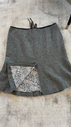 Stefanel Wollen rok grijs