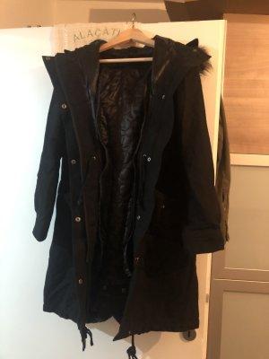 H&M Hooded Coat black