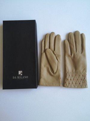 Leren handschoenen beige