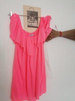 Koszula typu carmen różowy neonowy