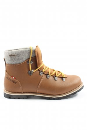 Dachstein Lace-up Booties brown-light grey themed print casual look