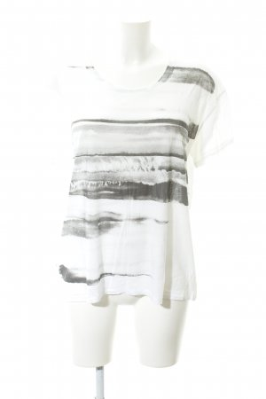 Dagmar T-Shirt white-black themed print casual look