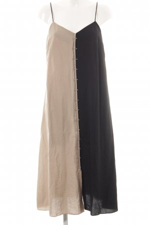 Dagmar Pinafore dress black-cream elegant