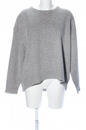 Dagmar Wool Sweater light grey flecked casual look