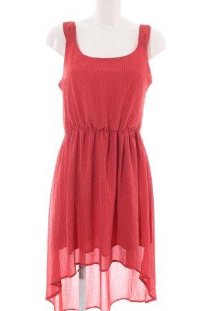 Dahlia A-Linien Kleid rot-schwarz Punktemuster Casual-Look