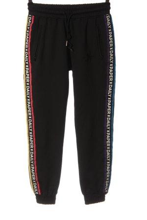 Daily Paper Spodnie dresowe czarny Wydrukowane logo W stylu casual