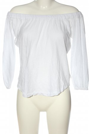 Daily's Blusa tipo Carmen blanco look casual