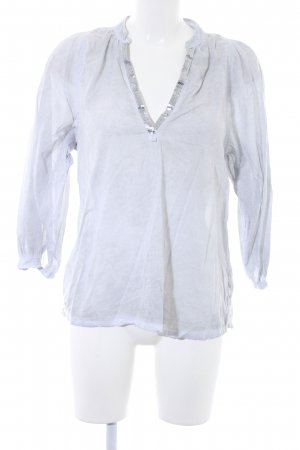 Daily's Long Sleeve Blouse light grey-silver-colored Sequin ornaments