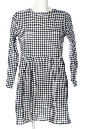 Daisy Street Blusenkleid schwarz-weiß Allover-Druck Business-Look