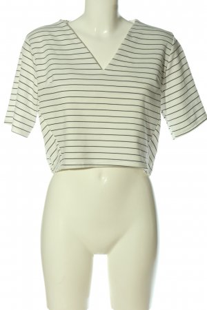 Daisy Street Cropped Shirt white-black allover print casual look