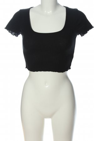 Daisy Street Cropped Shirt black casual look