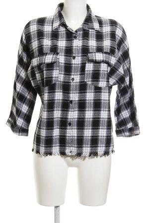 Daisy Street Holzfällerhemd schwarz-weiß Glencheckmuster Casual-Look