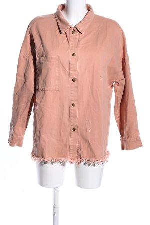 Daisy Street Chemise en jean rose style décontracté