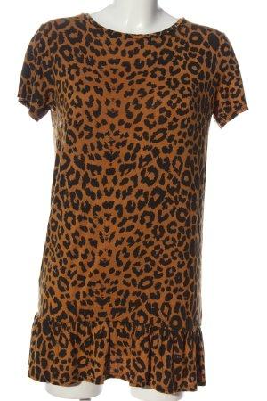 Daisy Street Shortsleeve Dress brown-black leopard pattern casual look