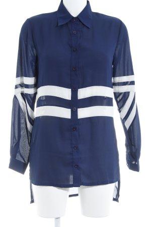 Daisy Street Langarmhemd dunkelblau-weiß Streifenmuster