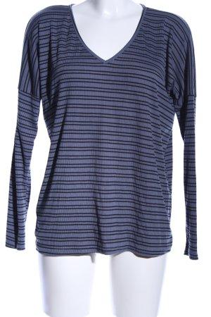 Daisy Street Longsleeve blau-schwarz Streifenmuster Casual-Look