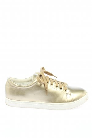 Daisy Street Lace-Up Sneaker gold-colored casual look