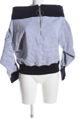 Daisy Street Sweatshirt hellgrau-schwarz meliert Casual-Look