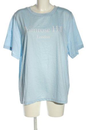 Daisy Street T-Shirt blau Schriftzug gedruckt Casual-Look