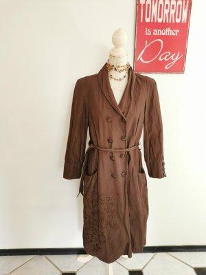 Daite Amsterdam Designer Damen Trenchcoat Mantel Übergangsmantel braun mit Gürtel Größe 38